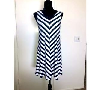 J. Crew Navy And White Dress Small